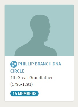 Phillip Branch DNA Circle on Ancestry DNA