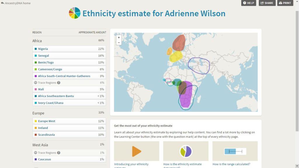 My Current Ancestry DNA Admixture Break Down