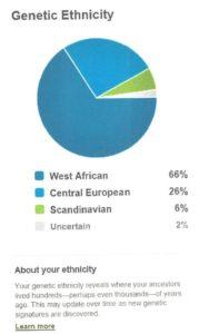 My Ancestry DNA admixture circa 2012